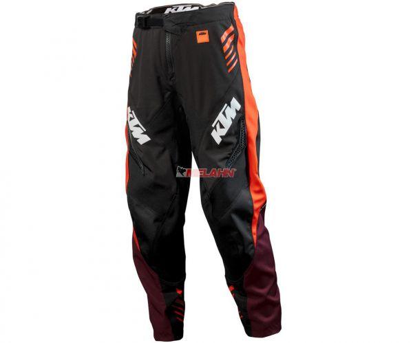 KTM Kids Hose: Gravity-FX, schwarz/orange/burgund