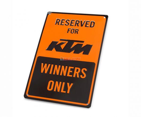 KTM Metallschild: Reserved for KTM