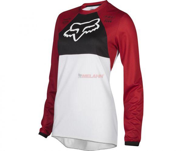 FOX Girls Jersey: 180 Mata, rot/schwarz/weiß