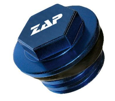ZAP Aluminium-Öleinfüllschraube GasGas/KTM/Husqvarna, blau