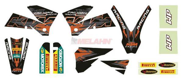 KTM Graphic Kit SX/EXC 05-07, 12-teilig, schwarz