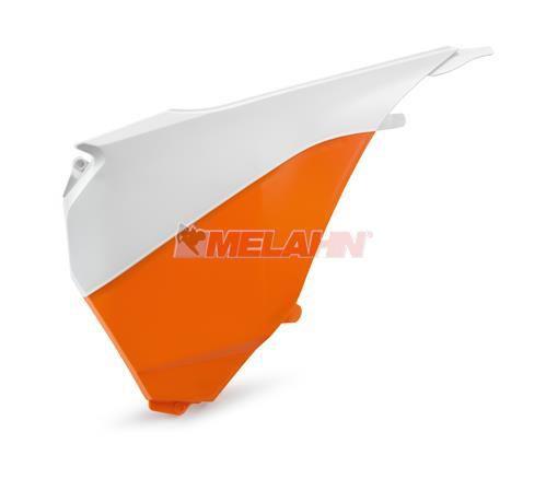 KTM Filterkastendeckel, SX/SMR 13-15 / EXC 14-16 (weiß/orange)