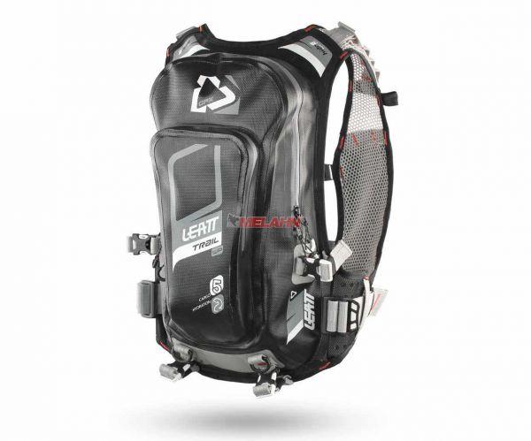 LEATT Trinkrucksack: 2.0 Trail WP 2 Liter, schwarz/grau