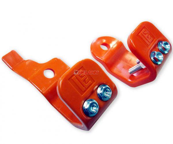 T.M. DESIGNWORKS Gabelfuß-Protektor (Paar) KTM 03-15 / HUSQVARNA 14-15 / SHERCO 12-16, orange