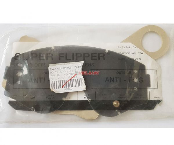 FLIPPER Ersatzglas und 10 Abreissscheiben für Roll Off OAKLEY L-Frame/Classic, getönt