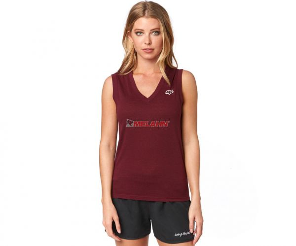 FOX Girls Tank-Top: Worldwide, bordeaux