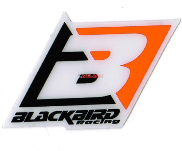 BLACKBIRD Aufkleber: Logo, 6,5x4,5cm, orange