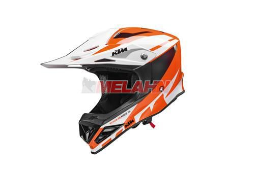 KTM Kids Helm: Dynamic-FX, weiß/orange