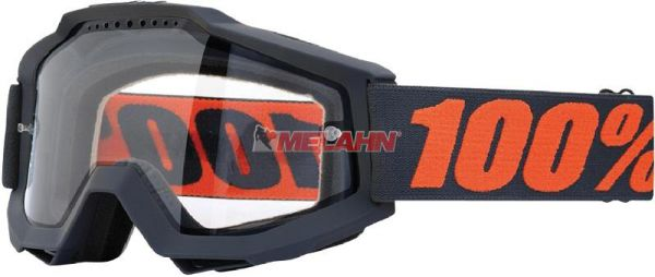 100% Brille: Accuri Enduro Gunmetal, grau/orange