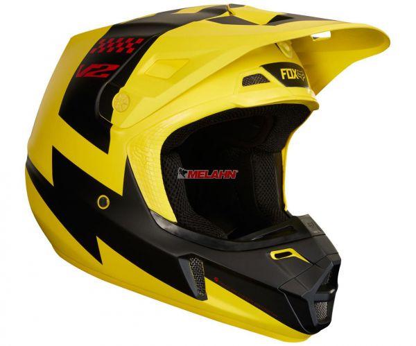 FOX Helm: V2 Mastar, gelb