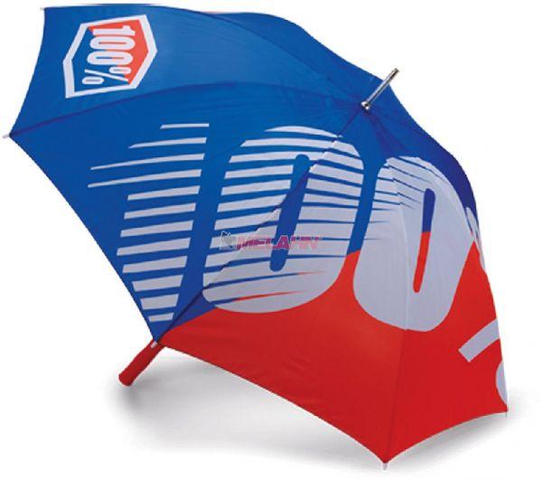 100% Regenschirm: Premium, blau/rot 127cm,