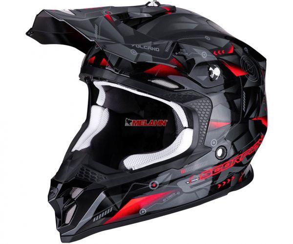 SCORPION Helm: VX-16 Air Punch, silber/schwarz