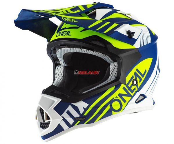 ONEAL Helm: 2Series RL, Spyde, blau/neon-gelb