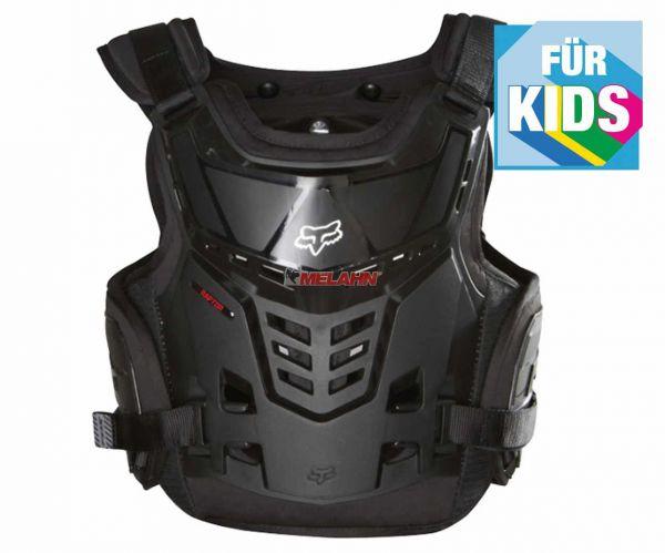 FOX Kids-Brustpanzer: Raptor Proframe LC, schwarz