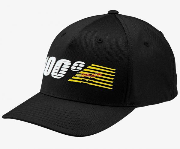 100% Cap: Starlight, schwarz/gelb