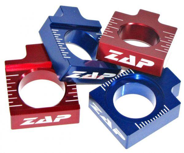 ZAP Aluminium-Achsblöcke (Paar) KX/KXF 01-, rot