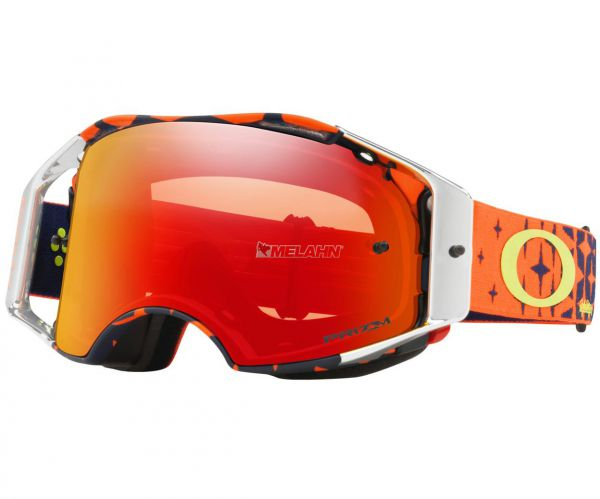 OAKLEY Brille: Airbrake Prizm MX Troy Lee Designs Megaburst orange/navy, torch-iridium
