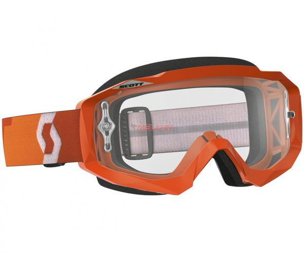 SCOTT Brille: Hustle MX, klares Glas, orange