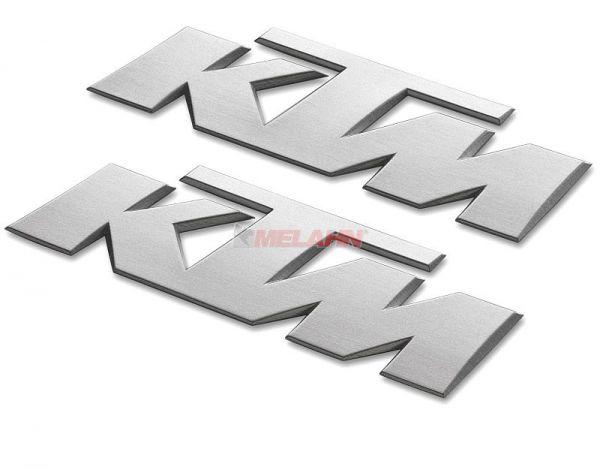 KTM 3D-Aufkleber, silber, 2 Stück