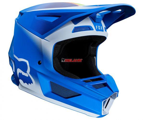 FOX Helm: V2 Vlar, blau