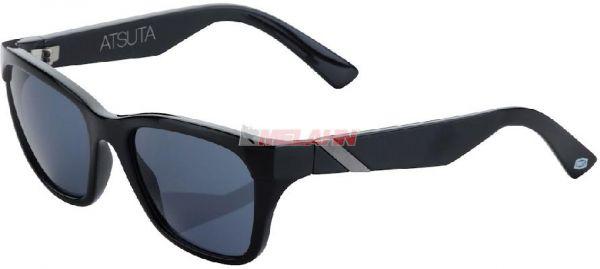 100% Sonnenbrille: Atsuta, schwarz/silber