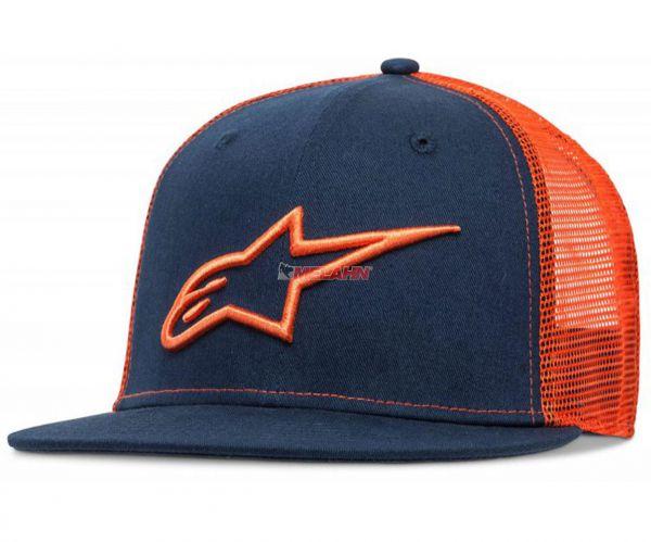 ALPINESTARS Cap: Trucker Cap Corp, navy/orange