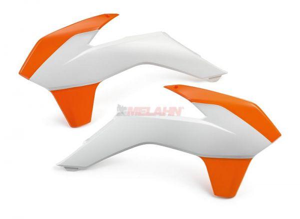 KTM Spoiler (Paar) mit Dekor, weiß, SX/SMR 13-15 / EXC 14-16, EXC 2015