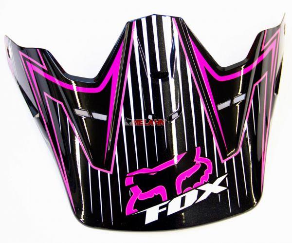 FOX Helmschirm: Visor V2 Girls Race, sw/pink