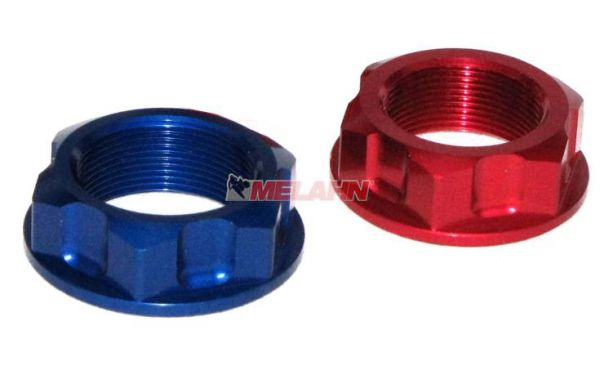 ZAP Aluminium-Steuerkopfmutter YZ/YZF/RM/RMZ, blau