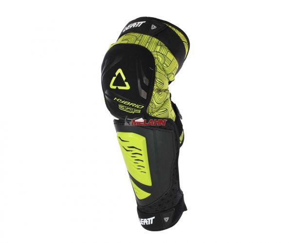 LEATT Knieprotektor (Paar): 3DF Hybrid EXT, gelb