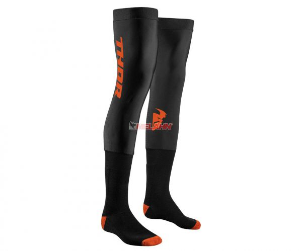 THOR Knee Brace Socke (Paar), schwarz/orange
