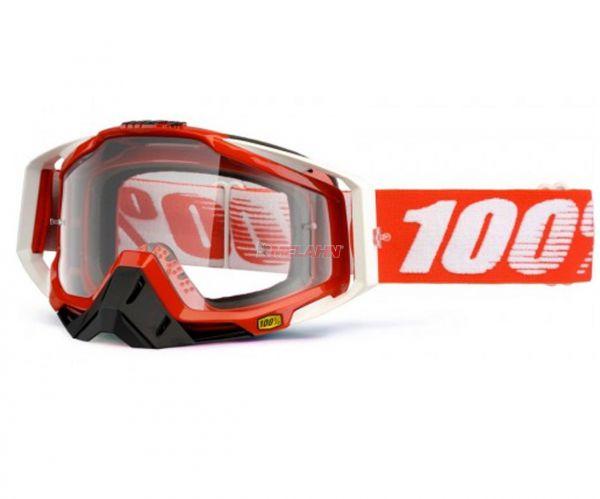 100% Brille: Racecraft Fire red, rot/weiß