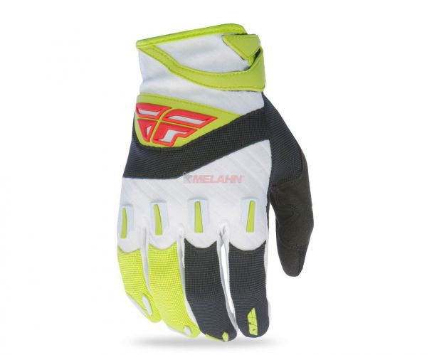 FLY Handschuh: F16, schwarz/lime