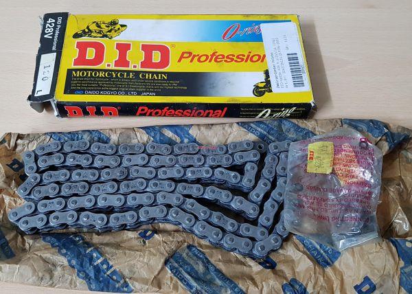 D.I.D. O-Ring-Kette 428V mit Clipschloss, 128 Glieder, schwarz