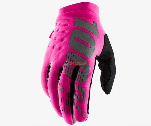 100% Women Handschuh: Brisker, pink