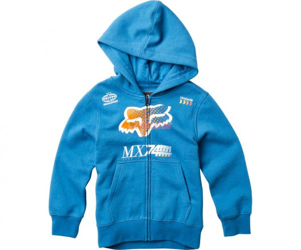 FOX YOUTH Zip-Hoody: Backdrafter, blau