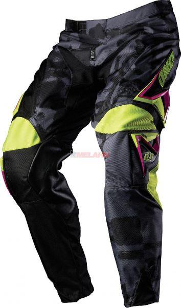 ONE Hose: Carbon Napalm, schwarz/pink, Gr.32