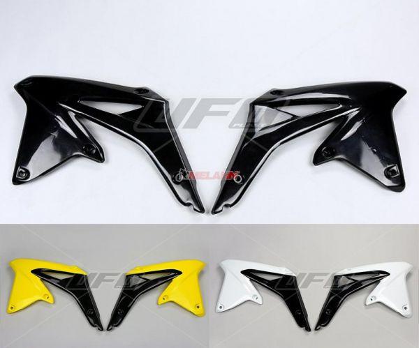 UFO Spoiler (Paar), Kühlerverkleidung RMZ 450 2008, weiß