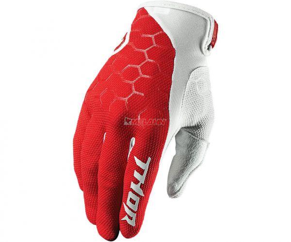 THOR Handschuh: Draft, rot/weiß