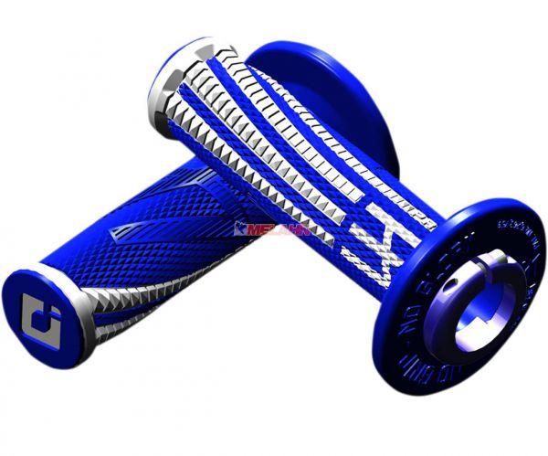 EMIG Griff (Paar): Pro V2 Lock On, 2/4-Takt, blau/weiß