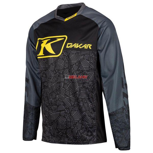 KLIM Jersey: Dakar, schwarz/grau/gelb