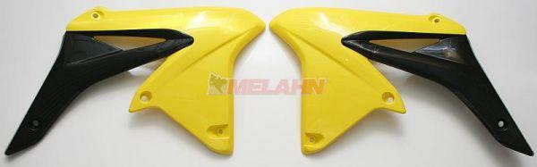 UFO Spoiler (Paar), Kühlerverkleidung RMZ 250 10-, gelb2001