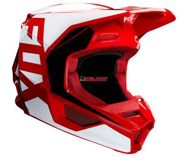 FOX Helm: V1 Prix, rot/weiß