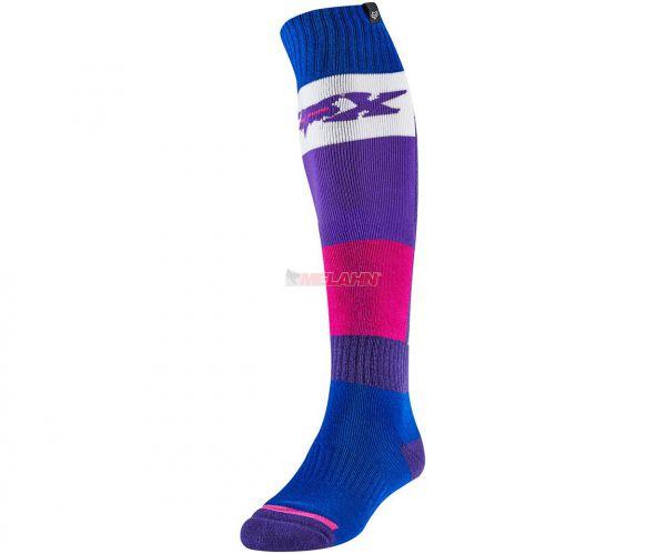 FOX Socke (Paar): FRI Thin Linc, blau/pink
