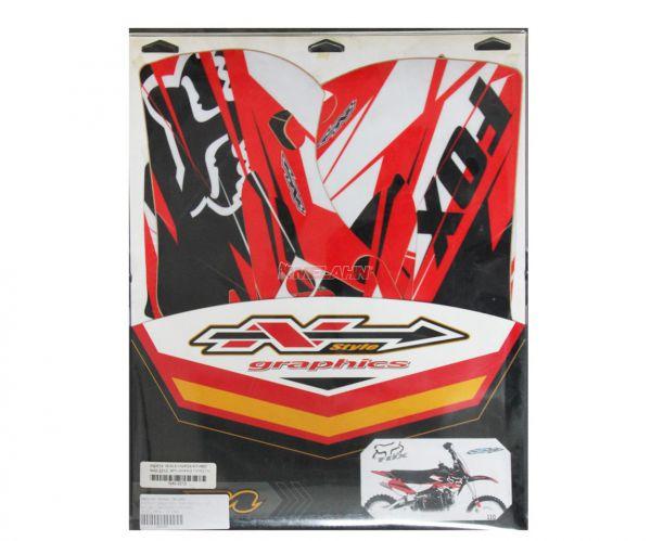 N-STYLE Dekor-Kit FOX, rot, CR 02-07