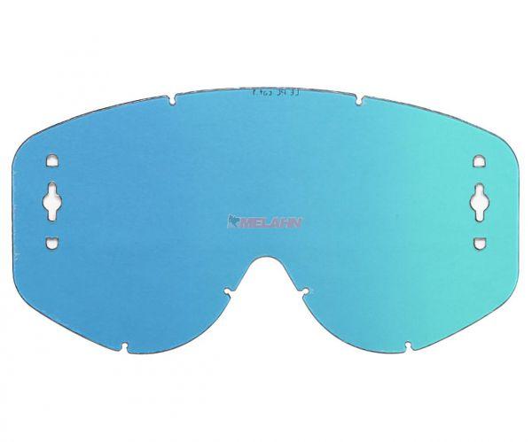 SCOTT Spiegelglas WORKS Recoil/80er Serie, blau, afc