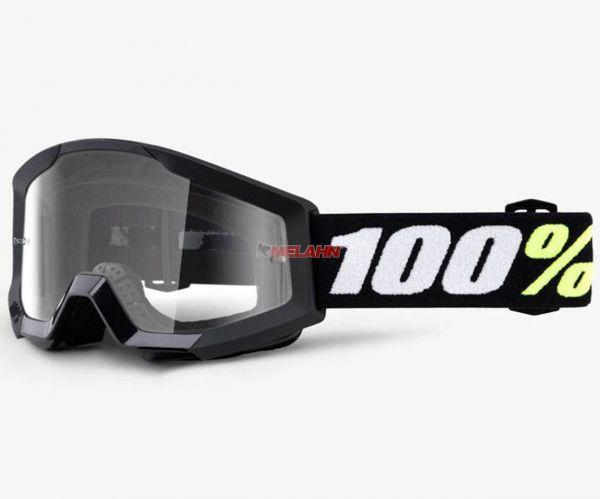 100% Kids-Brille: Strata Mini, schwarz