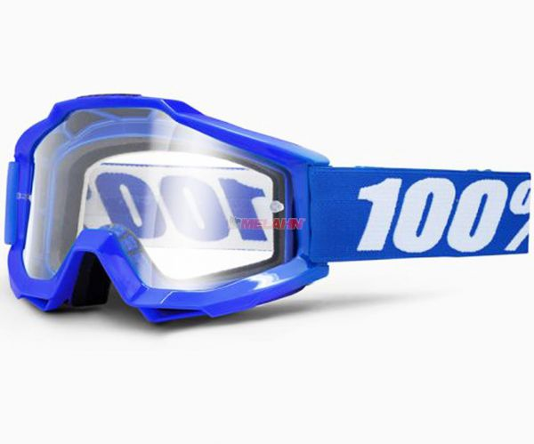 100% Accuri Reflex Blue OTG Goggle Motocross MTB MX Enduro Cross Brille, Brillenträger, blau