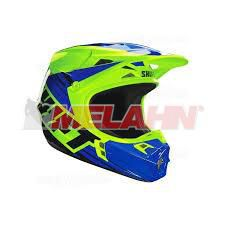 SHIFT Helm: V1 Assault Race, gelb/blau