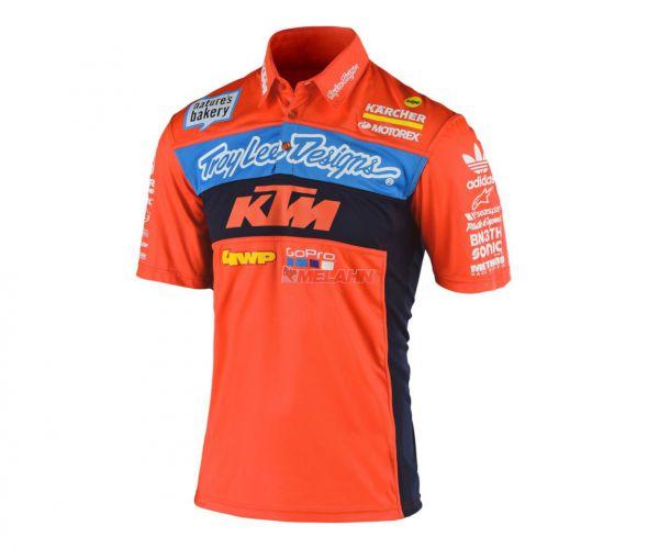 TROY LEE DESIGNS Polo-Shirt: Pit Shirt Team, orange